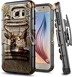 E-Began Case for Samsung Galaxy S6, Belt Clip Holster with Kickstand Protective Hybrid Cover Heavy Duty Armor Defender Sho...
