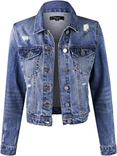 Women's Casual Distressed Washed Boyfriend Look Style...