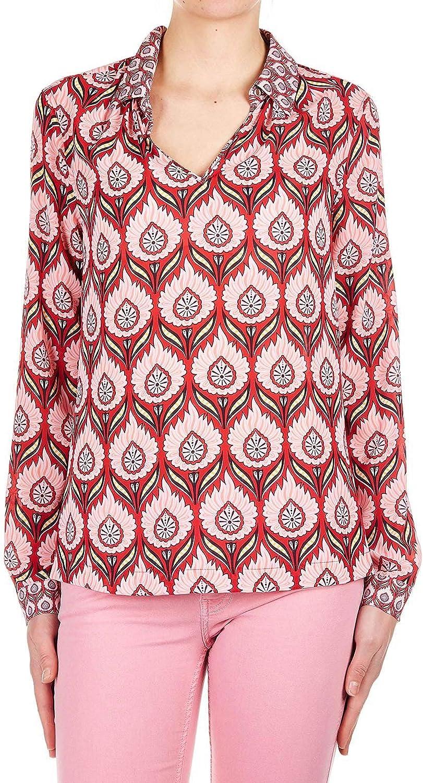 Silvian Heach Women's PGP19094BLFANTASY Multicolor Polyester Shirt