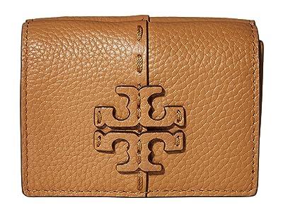 Tory Burch McGraw Trifold Mini Wallet (Tiramisu) Handbags