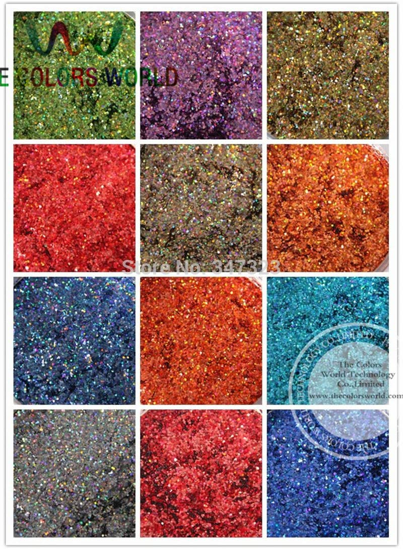 Gabcus outlet 24 Laser Outlet ☆ Free Shipping Holographic Colors Spangles 1MM Glitter fo