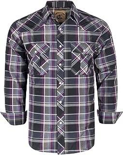 Men's Button Down Plaid Long Sleeve Work Casual Shirt