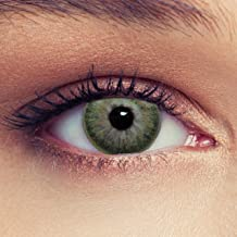 Designlenses, Dos lentillas de color verde discretamente colores suaves de un mese sin dioprtías/corregir + gratis caso de lente