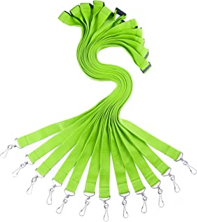 YOYOGO 12 Pack Premium Bright Color Cruise Lanyards with ID Badge Holder&Breakaway Clasp - Cute Colors & Durable for Schools, Work, Camps (Apple Green+Breakaway Clasp)