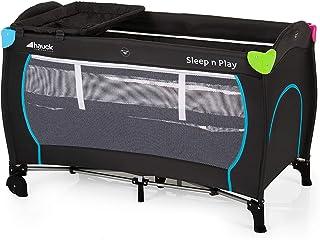 Hauck Sleep N Play Center Kombi-Reisebett, inkl. Neugeborenen-Einhang, Wickelauflage, Rollen, Matratze, Tragetasche höhenverstellbar und faltbar, Mehrfarbig