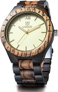 Eco Friendly Sandal Wood Japan Quartz Movement Waterproof Wooden Watch for Men Fashion Gift