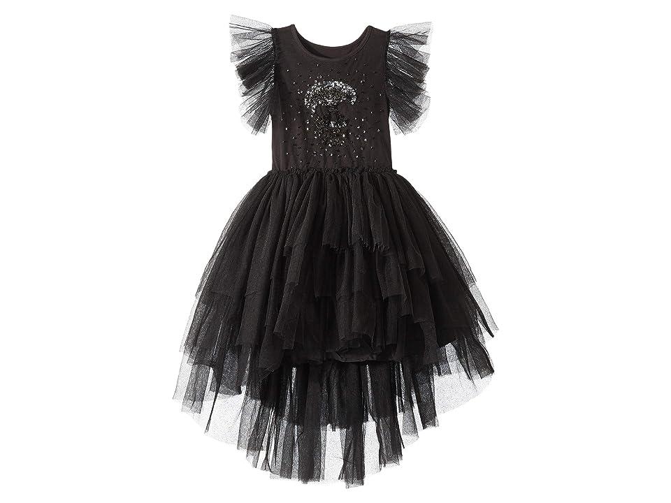 Nununu Embroidered Dress (Toddler/Little Kids/Big Kids) (Black) Girl