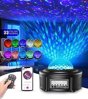 Tesoky Proyector Estrellas, Lampara Estrellas Proyector con Bocina Bluetooth/Control Remoto/Temporizador, Proyector Estrellas Techo para la Fiesta de Cumpleaños del Dormitorio de los Niños