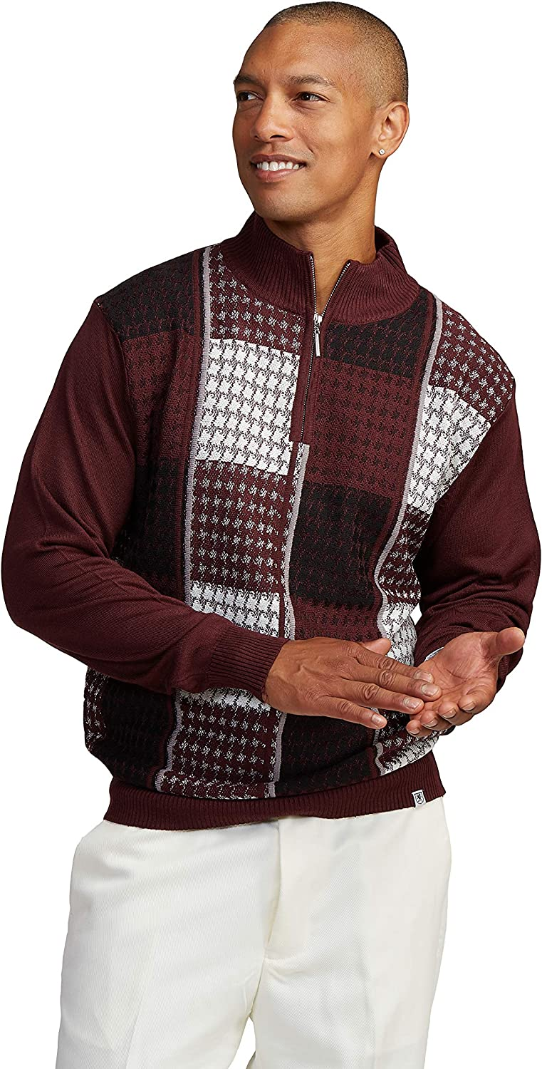 STACY Max 56% OFF ADAMS 55% OFF Men's Sweater Multi Houndstooth Square Pattern