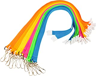 Juvale 12-Pack Neon Breakaway Neck Lanyards for Events, School IDs, Keys, Special Badges, Conferences, 6 Assorted Bright Colors, 34 Inches Circumference