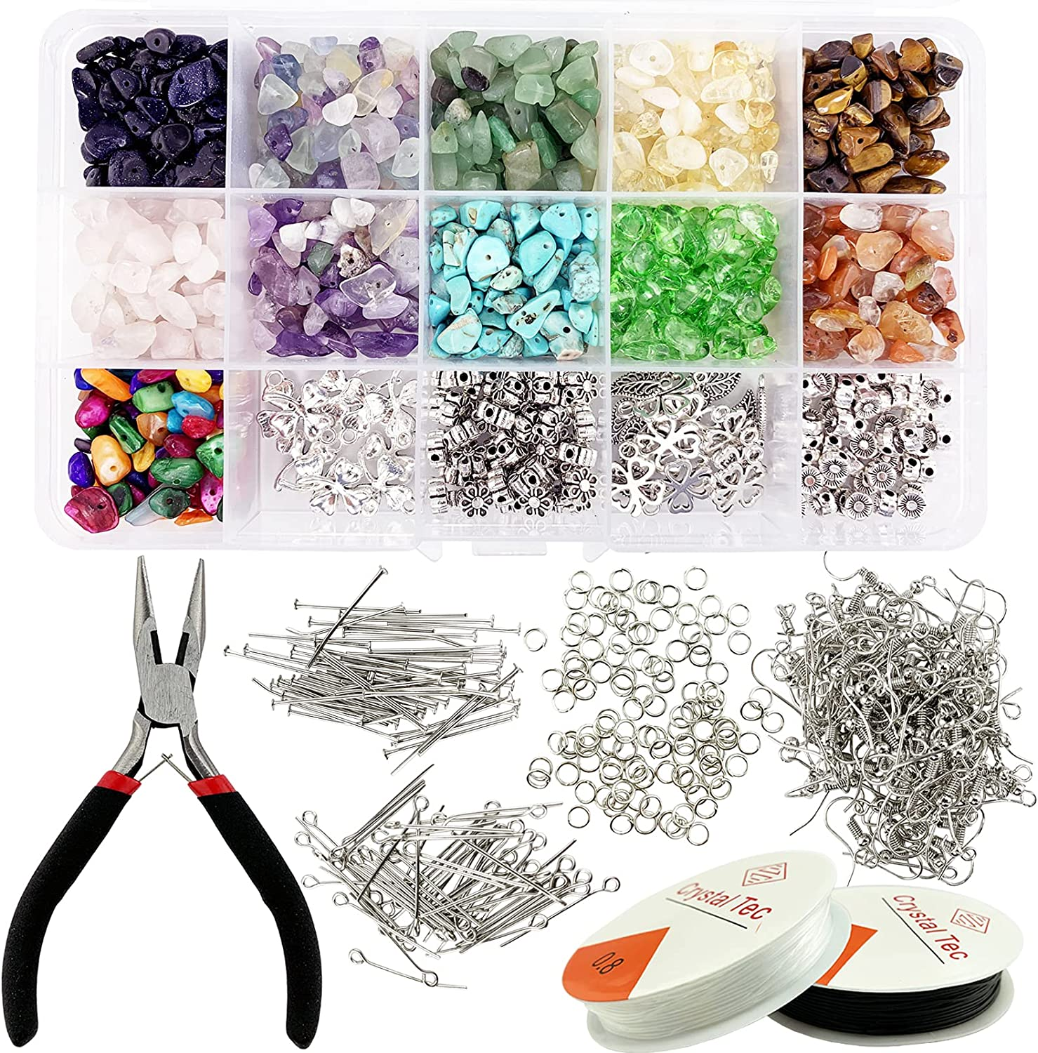 983pcs Irregular Clearance SALE Limited time Crystal Bombing free shipping Stone Chips with Kit Beads Spacer