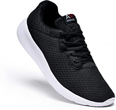 AONEG Mens Running Waking Traniners Sneaker Athletic Gym Fitness Sport Shoes Lightweight Casual Working Jogging Outdoor Shoe