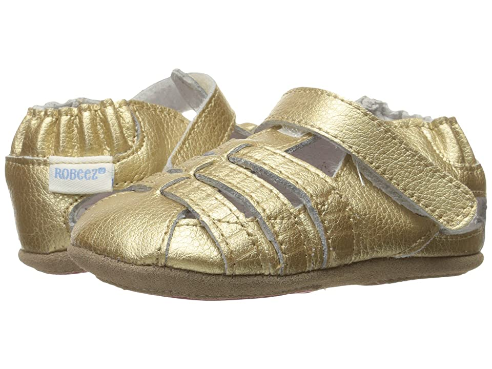 Robeez Paris Sandal Mini Shoez (Infant/Toddler) (Gold) Girls Shoes