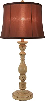 Décor Therapy TL19142 Dora Table Lamp, Antique Ivory