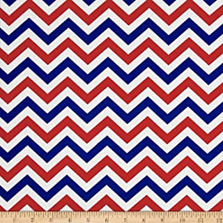 Santee Print Works Made In The USA II Chevron Red/White/Blue Fabric by the Yard