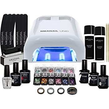 Lampara LED UV Secador de Uñas Esmalte Semipermanente Pintauñas Decoracion de Uñas Kit Manicura Pedicura Nail Edition Deluxe White: Amazon.es: Belleza