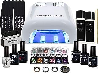 Lampara LED UV Secador de Uñas Esmalte Semipermanente Pintauñas Decoracion de Uñas Kit Manicura Pedicura Nail Edition Deluxe White