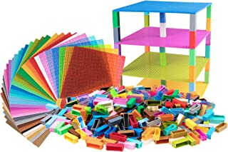 """Strictly Briks Classic Baseplates 10"""" x 10"""" Building Brick Baseplates 100% Compatible with All Major Brands 