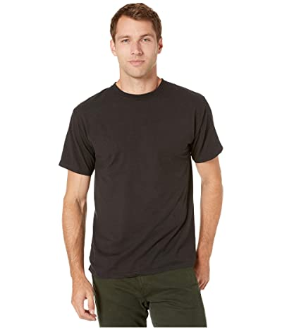Hanes ComfortWashtm Garment Dyed Short Sleeve T-Shirt (Black) Clothing