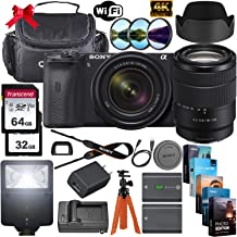 $1699 » Sony Alpha a6600 Mirrorless Digital Camera 24.2MP 4K with 18-135mm Lens + 64GB & 32GB Memory Cards, Sturdy Equipment Carrying Case, Spider Tripod, Camera Flash, Software Kit and More