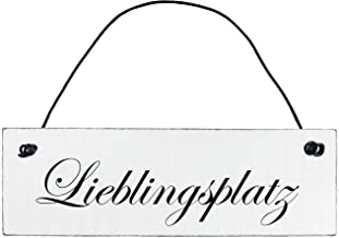 Lieblingsplatz Holzschild Türschild antik Shabby Chic