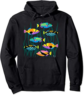 Hawaiian Triggerfish Coral Reef Tropical Fish Pullover Hoodie