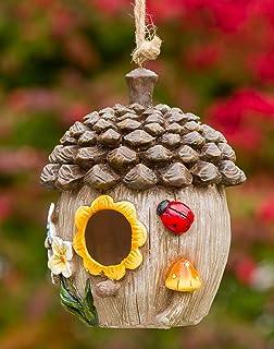 Acorn Cottage Decorative Hand-Painted Bird House