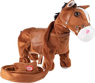 Happy Trails Animated Plush Horse Toy– Interactive Pony That Walks on Leash, Sings A Cowboy Song & Dances, Soft & Snuggly Fur, Stuffed Farm Animal
