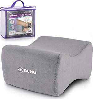 EBUNG Knee Pillow & Leg Pillow for Hip, Back, Leg, Knee Pain Relief - Ideal for Side Sleepers, Pregnancy and Right Spine Alignment –Memory Foam Wedge Contour with Washable Cover