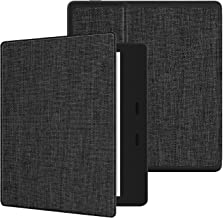 کیس نرم پارچه ایوتو برای واحه های نوین کیندل جدید (10th Gen، 2019 انتشار و 9th Gen، 2017) باریکترین و سبکترین جلد واحه 7''Kindle جدید با خودکار بیدار / خواب ، سری نرم پوسته KO Dark Grey