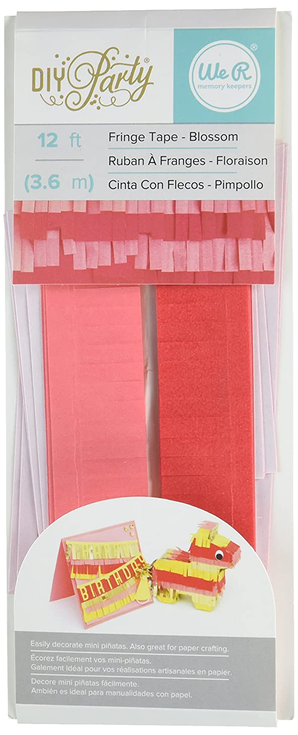 We R Memory Keepers 660776 DIY Party Fringe Tape, Blossom, 12'