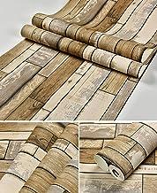 Special/Simple Retro 3D Wood Grain Wallpaper Clothing Store Restaurant Wallpaper 53 * 1000cm 198074 Brown (Color : 198074 ...