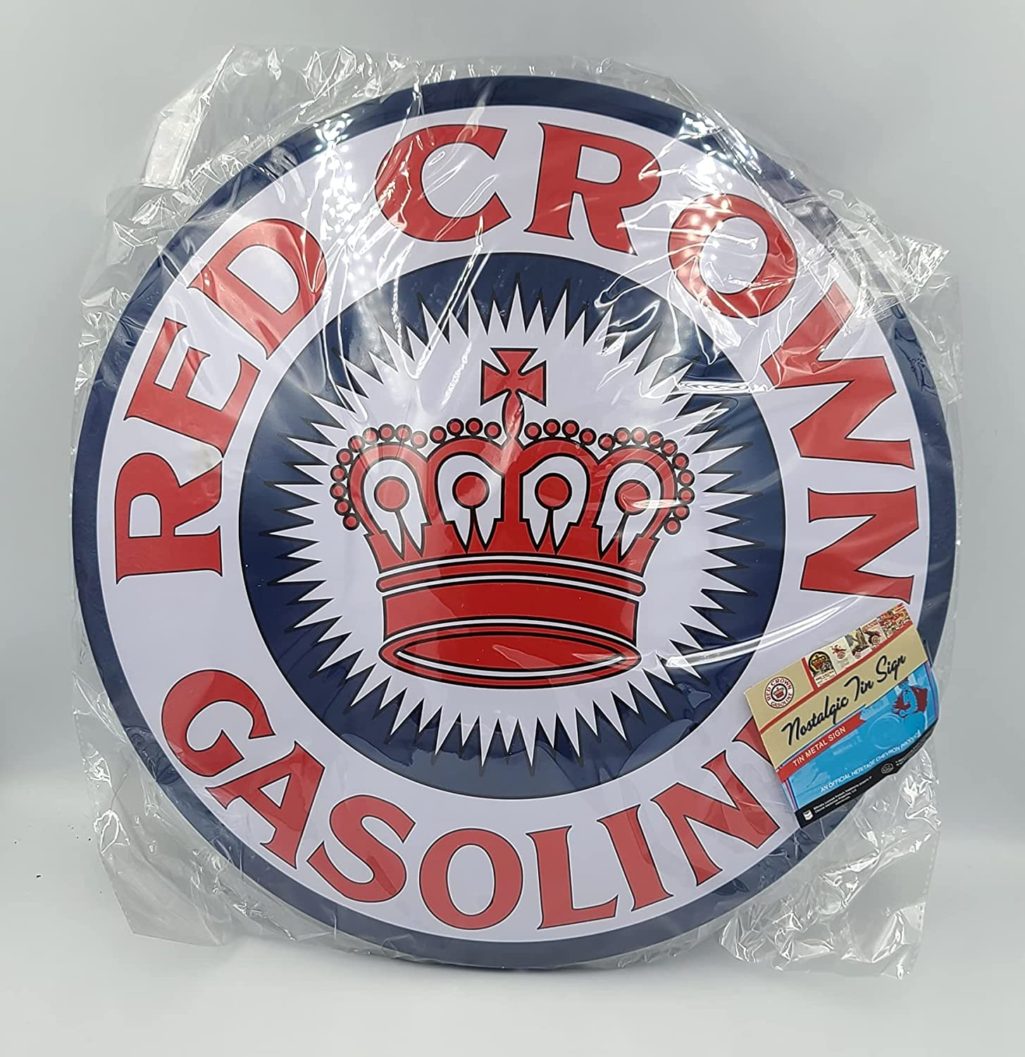 Ohio Trading Popular standard 16 Inch Metal Dome Offici - Crown Sign Gasoline Red Challenge the lowest price of Japan