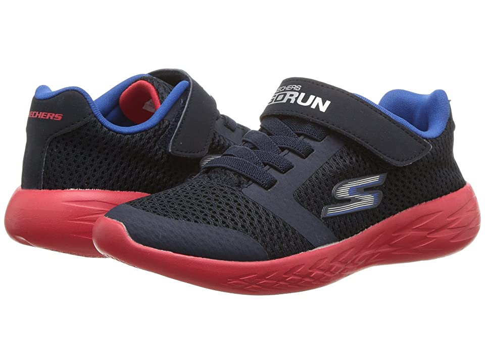 SKECHERS KIDS Go Run 600 (Little Kid/Big Kid) (Navy/Red) Boy
