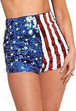 Arsimus USA Patriotic Star & Stripes Sequins Shorts