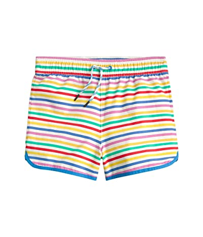 crewcuts by J.Crew Rainbow Stripe Pool Shorts (Toddler/Little Kids/Big Kids) (Ivory/Yellow Multi) Boy