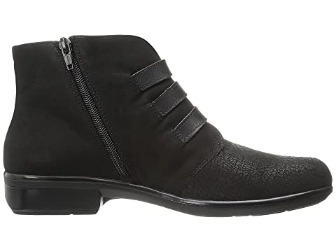 Naot Calima Black Crackle Leather/Black Velvet Nubuck/Black Raven Leather Store Cheap Price XStepcC