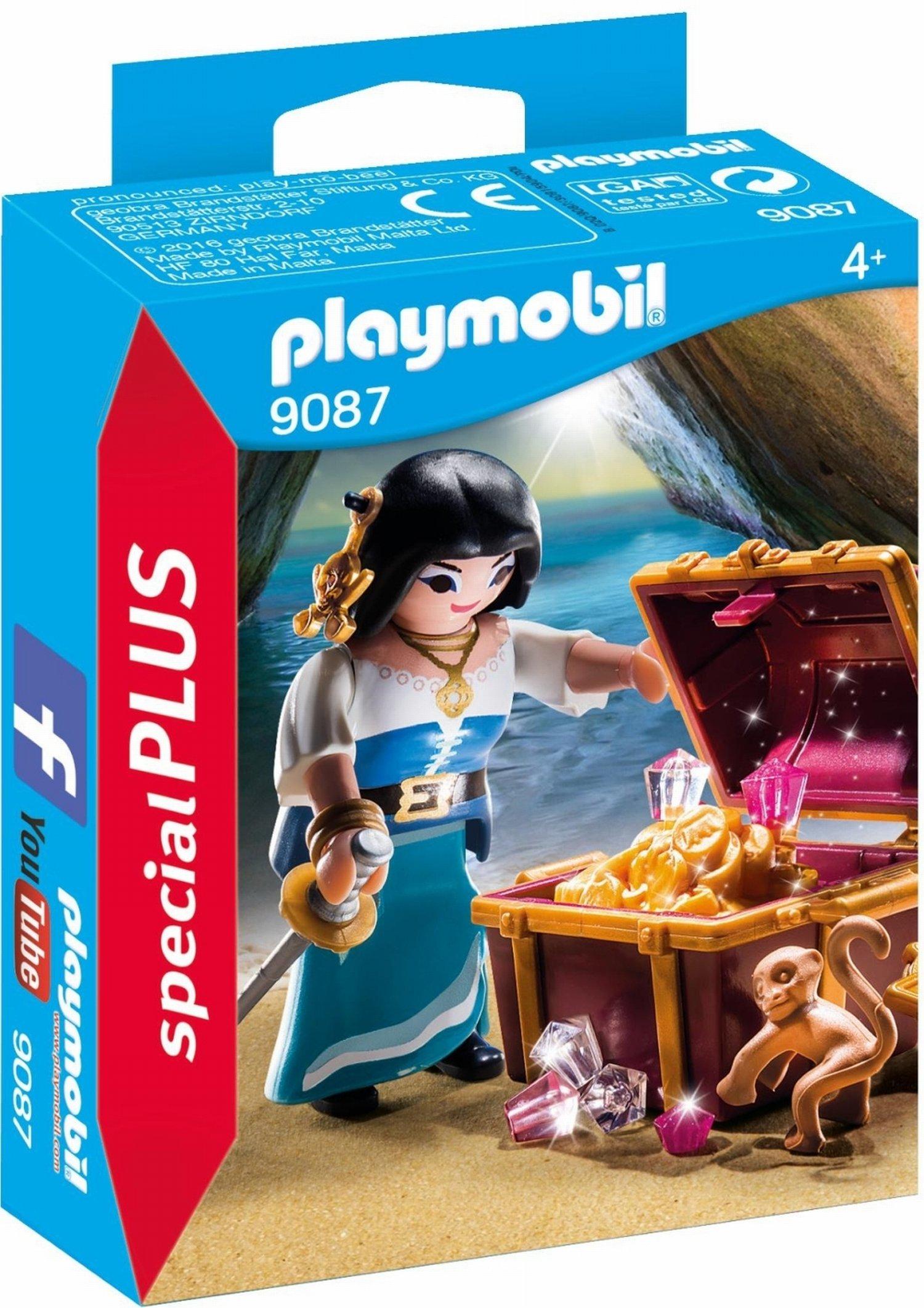 PLAYMOBIL Especiales Plus-9087 Pirata con Tesoro, Multicolor, única (9087): Amazon.es: Juguetes y juegos