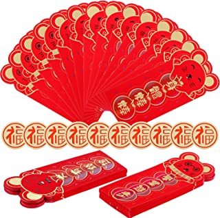 32 Pieces Chinese New Year Red Envelopes of 2020 Chinese Rat Year Hong Bao Lucky Money Pockets or Spring Festival New Year