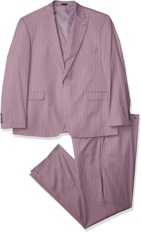 STACY ADAMS mens 3 Pc. Modern Fit Suit