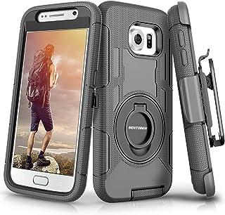 BENTOBEN Compatible with Samsung Galaxy S6 Case, Case for Samsung S6, Heavy Duty Kickstand Swivel Belt Clip Hybrid Shockpr...