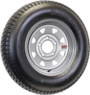 ST175/80D13 Loadstar Trailer Tire LRC on 5 Bolt Silver Spoke Wheel
