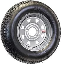 Mounted Trailer Tire On Rim ST215/75D14C 14X5.5 5-4.5 Silver Spoke