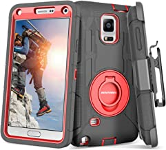 BENTOBEN Case for Galaxy Note 4, Shockproof Heavy Duty Rugged Hard PC Soft Rubber with..