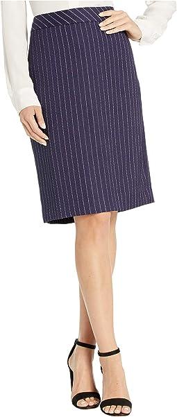 Navy/White Pinstripe Tweed