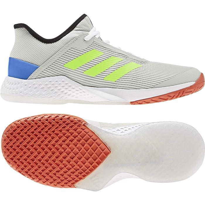 adidas  Adizero Club (Orbit Grey/Signal Green/Glory Blue) Mens Tennis Shoes