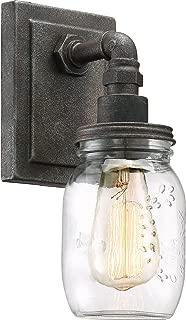 Quoizel SQR8701RK Squire Industrial Rustic Vanity Wall Lighting, 1-Light, 100 Watt, Rustic Black (12