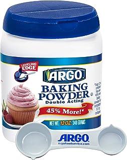 Argo Measuring Spoon & Argo Double Acting Baking Powder, 12 Ounce Resealable Plastic Container