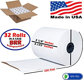 3 1/8 x 230 (32 Rolls) Thermal Paper roll Cash Register BPA Free Made in USA from BuyRegisterRolls