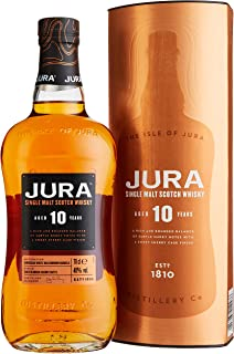Jura 10 Years Old Single Malt Scotch Whisky mit Geschenkverpackung 1 x 0.7 l
